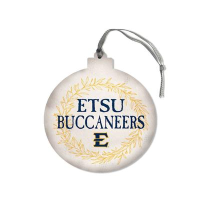 ETSU Legacy Laurel's Round Ornament