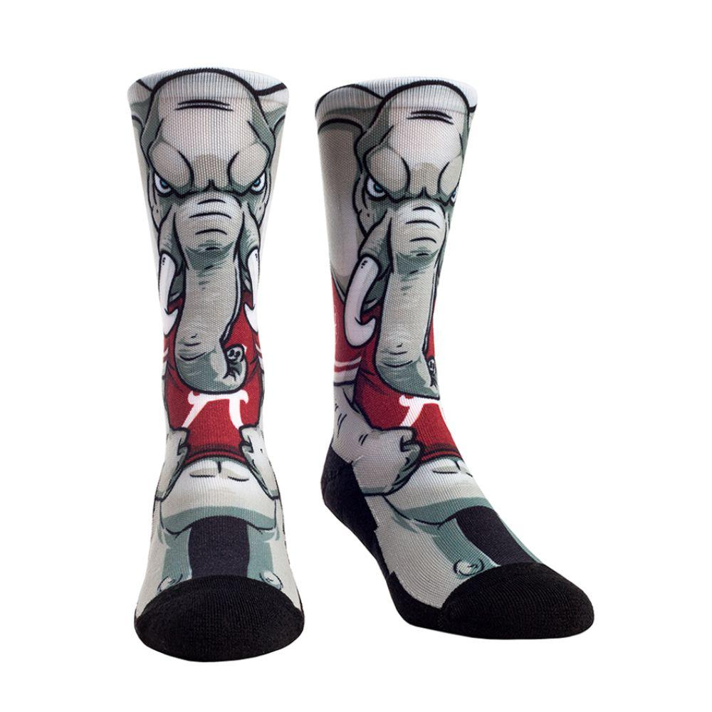Alabama Rock ' Em Hyperoptic Mascot Socks