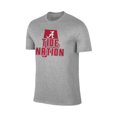 Alabama Tide Nation Tee Shirt GREY