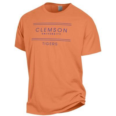Clemson Women's ComfortWash Double Bar S/S Tee
