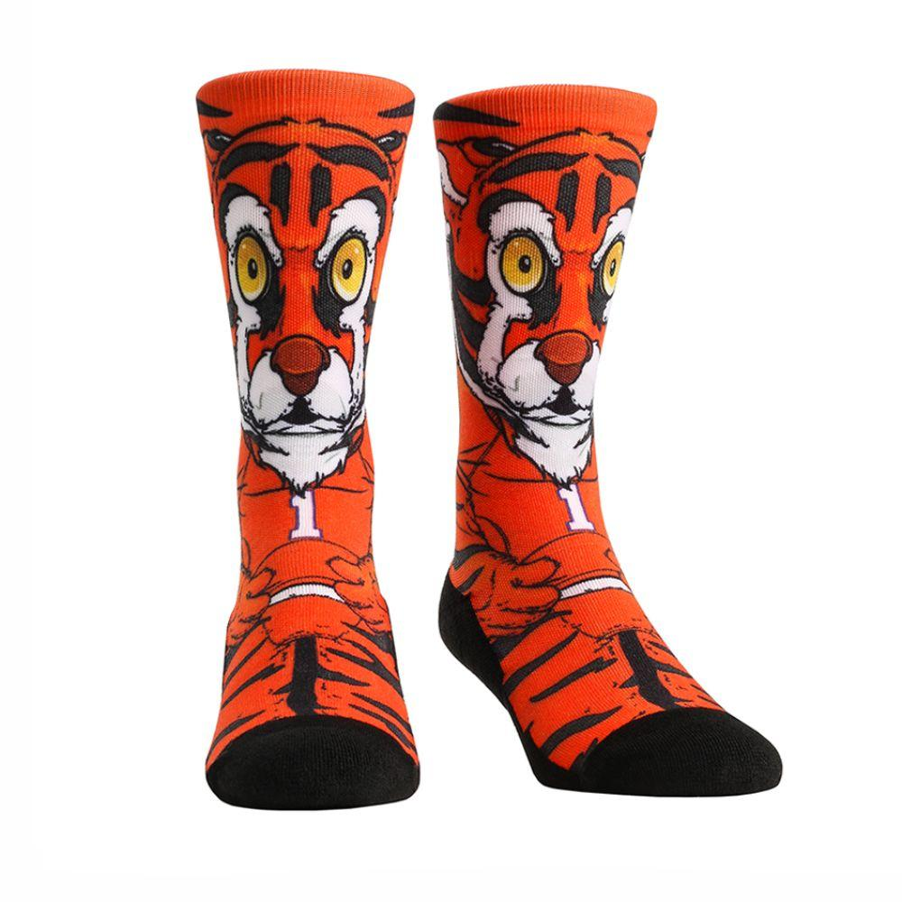 Clemson Rock ' Em Hyperoptic Mascot Socks