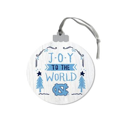 UNC Legacy Joy to the World Round Ornament
