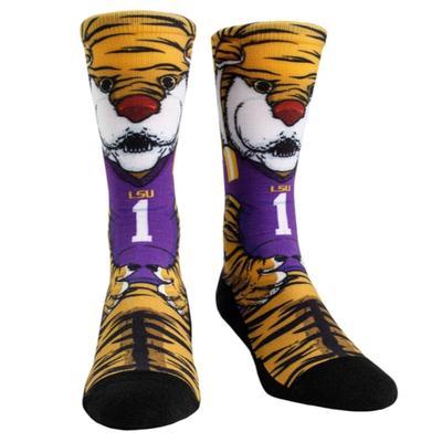 LSU Rock'em Hyperoptic Mascot Socks