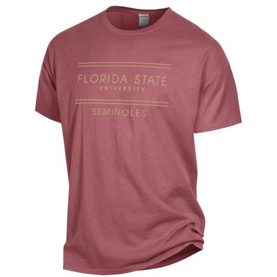 FSU Women's ComfortWash Double Bar S/S Tee