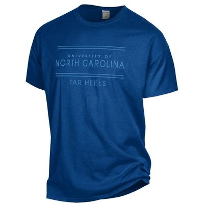 UNC Women's ComfortWash Double Bar S/S Tee
