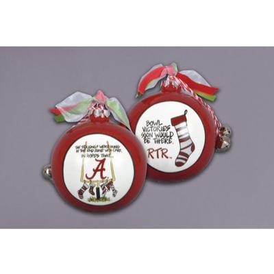 Alabama Magnolia Lane Stocking Ornament with Ribbon