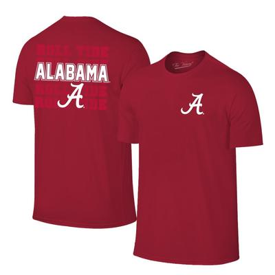Alabama A Logo with Roll Tide Tee Shirt CRIMSON