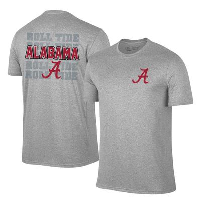 Alabama A Logo with Roll Tide Tee Shirt GREY