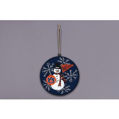 Auburn Magnolia Lane Snowman Metal Ornament