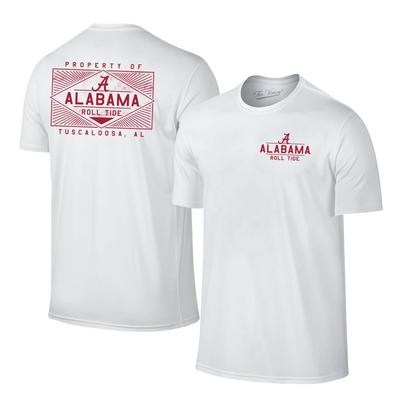 Alabama Women's Property of Tuscaloosa Tee Shirt WHITE