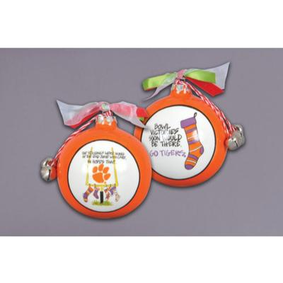 Clemson Magnolia Lane Stocking Ornament with Ribbon