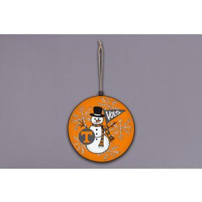 Tennessee Magnolia Lane Snowman Metal Ornament
