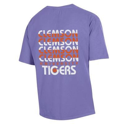 Clemson ComfortWash Repeat Stripe Pocket Tee