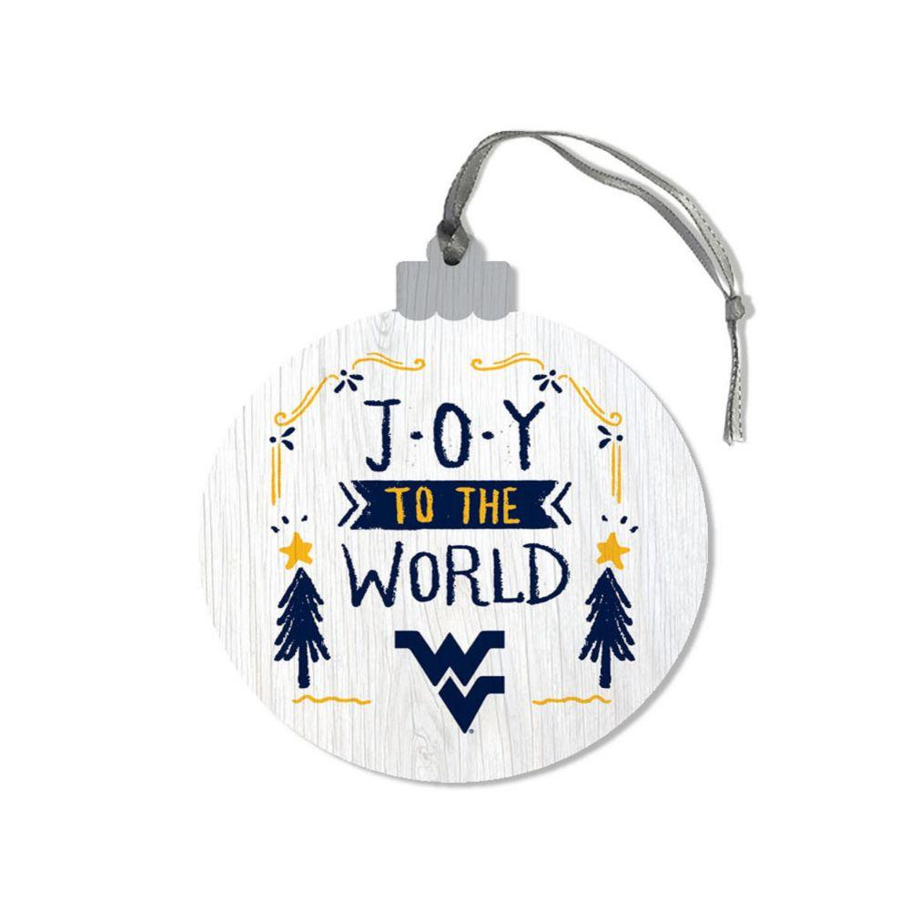 West Virginia Legacy Joy To The World Ornament