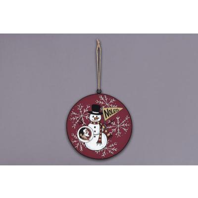 FSU Magnolia Lane Snowman Metal Ornament