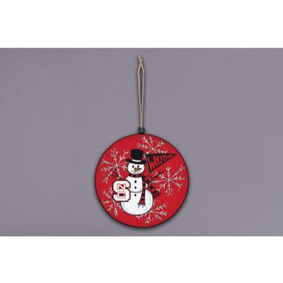 NCST Magnolia Lane Snowman Metal Ornament