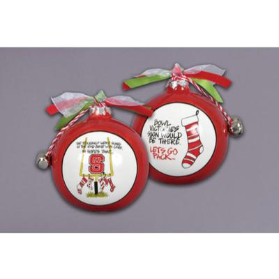 NCST Magnolia Lane Stocking Ornament with Ribbon