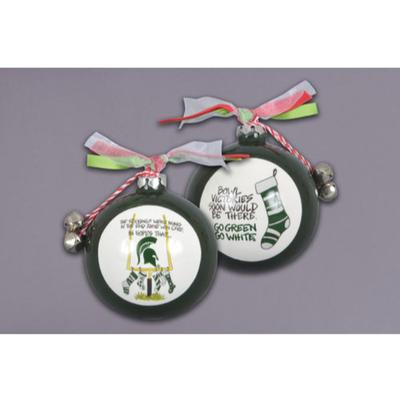 Michigan State Magnolia Lane Stocking Ornament with Ribbon