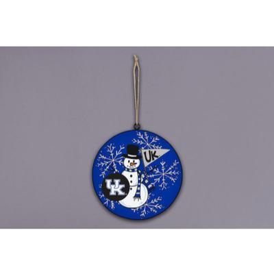 Kentucky Magnolia Lane Snowman Metal Ornament