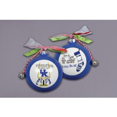 Kentucky Magnolia Lane Stocking Ornament with Ribbon