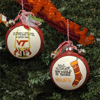 Virginia Tech Magnolia Lane Stocking Ornament with Ribbon