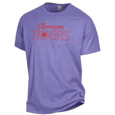 Clemson ComfortWash Logo Script Tee