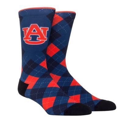 Auburn Rock'em Hyperoptic Argyle Socks