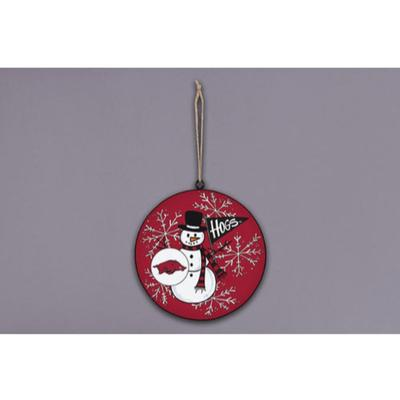 Arkansas Magnolia Lane Snowman Metal Ornament