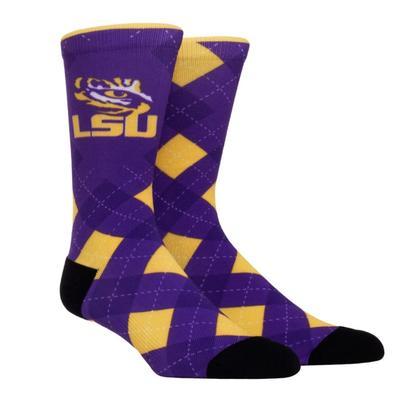 LSU Rock'em Hyperoptic Argyle Socks