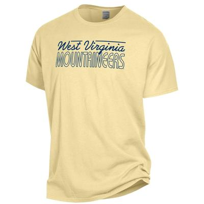 West Virginia ComfortWash Logo Script Tee