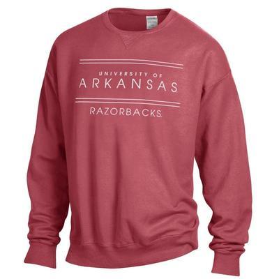 Arkansas ComfortWash Double Bar Sweatshirt