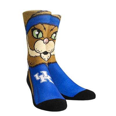 Kentucky Rock'em Split Face Mascot Socks