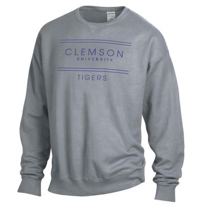 Clemson ComfortWash Double Bar Sweatshirt