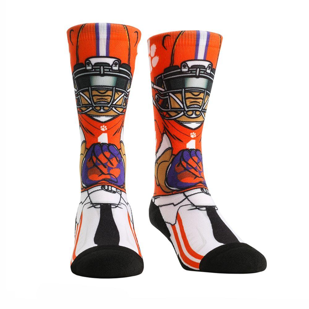 Clemson Rock ' Em Hyperoptic Playmaker Socks