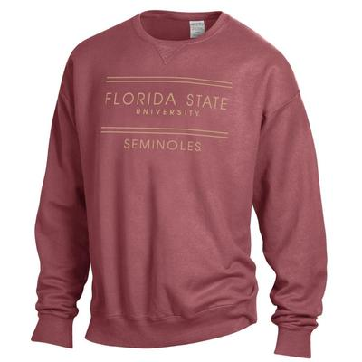 FSU ComfortWash Double Bar Sweatshirt