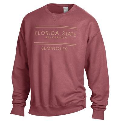 FSU ComfortWash Double Bar Sweatshirt