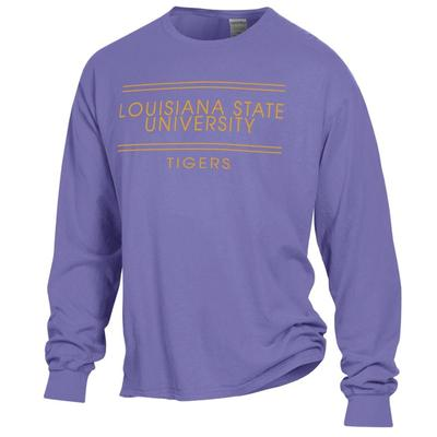 LSU ComfortWash Double Bar L/S Tee