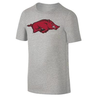 Arkansas Youth Giant Running Hog Logo Tee Shirt GREY