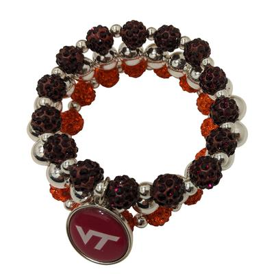 Virginia Tech Amanda Bling Stackable Bracelet