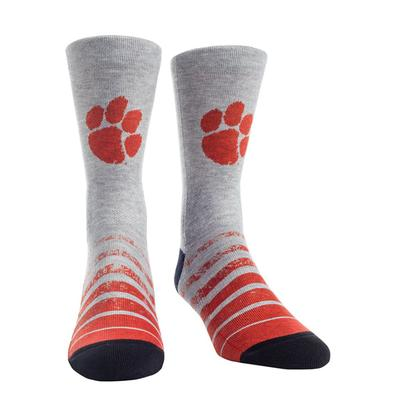 Clemson Rock'em Vintage Heather Socks