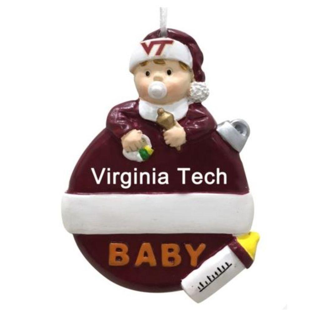 Virginia Tech Baby First Christmas Ornament