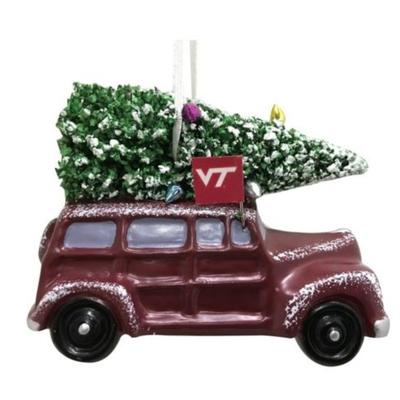 Virginia Tech Van W/ Tree Ornament