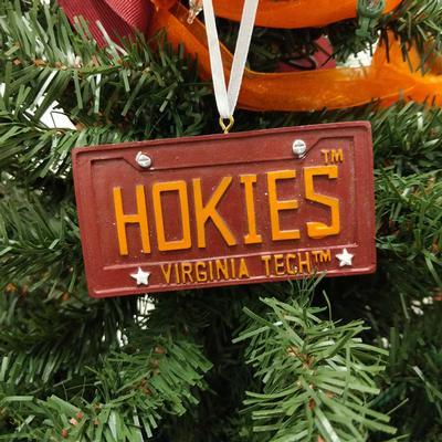 Virginia Tech License Plate Christmas Ornament