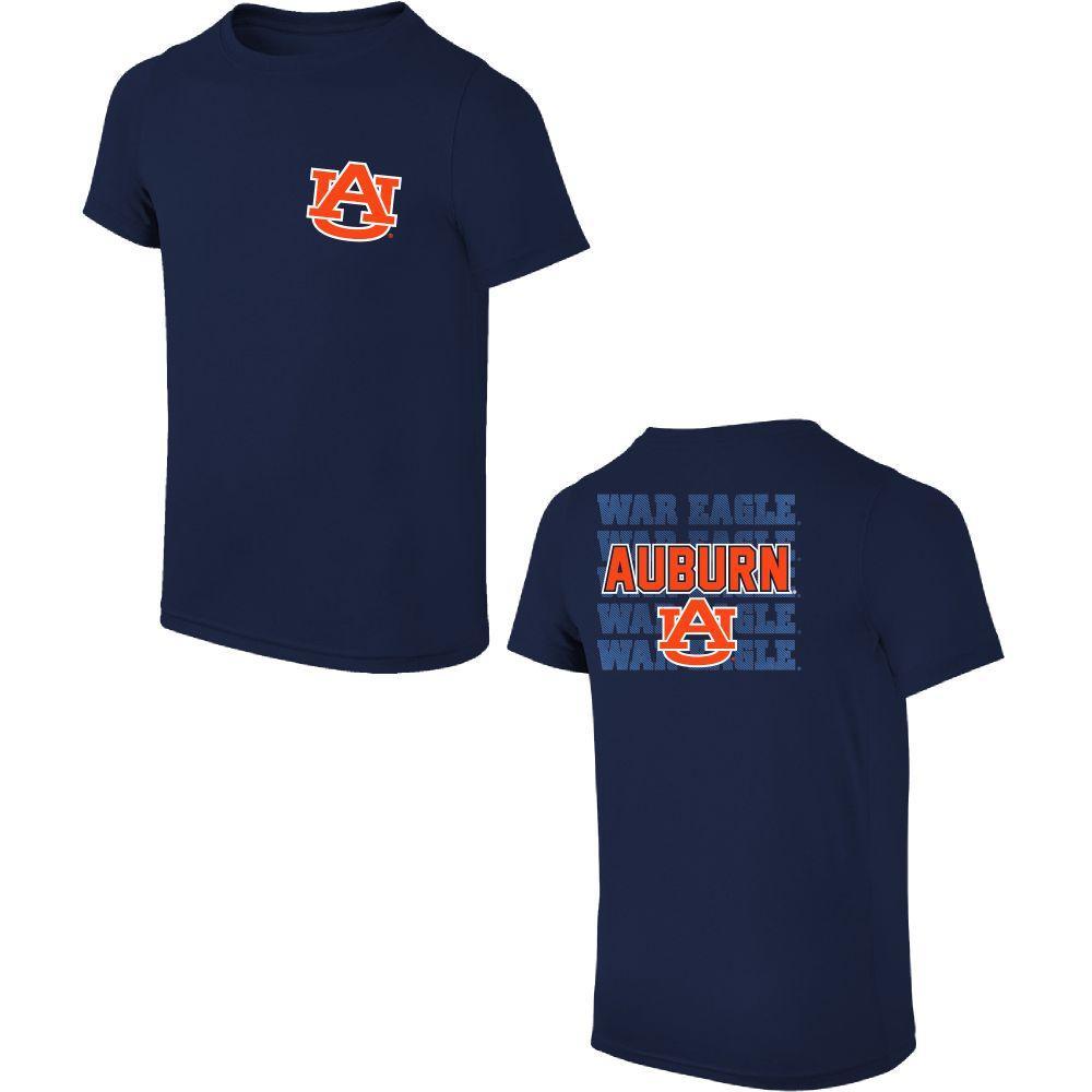 Auburn Au Logo With War Eagle Tee Shirt
