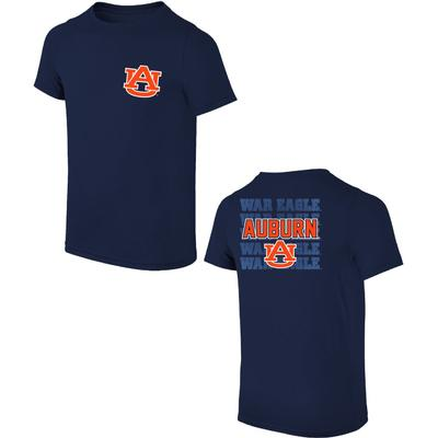 Auburn AU Logo with War Eagle Tee Shirt