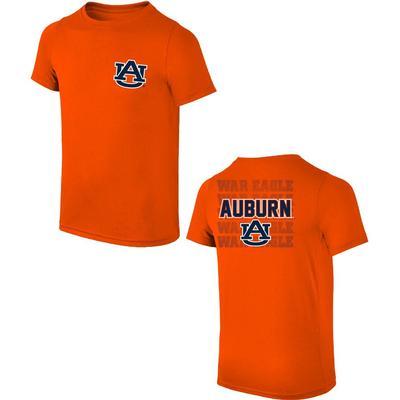 Auburn AU Logo with War Eagle Tee Shirt ORANGE