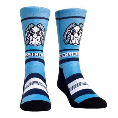UNC Rock'em Mascot Single Face Socks