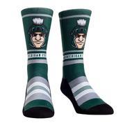 Michigan State Rock ' Em Mascot Single Face Socks