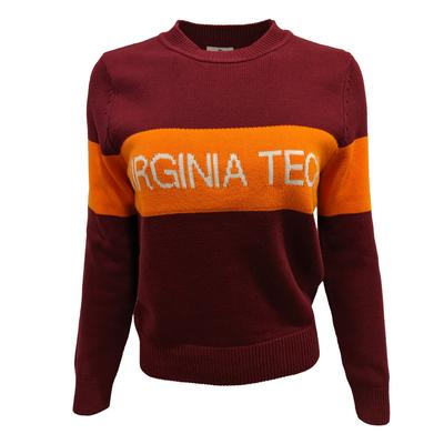 Virginia Tech Hillflint Women's Stripe Sweater