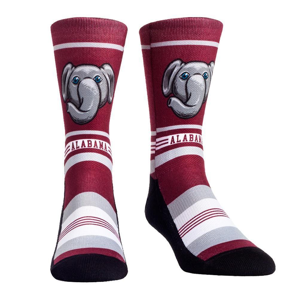 Alabama Rock ' Em Mascot Single Face Socks
